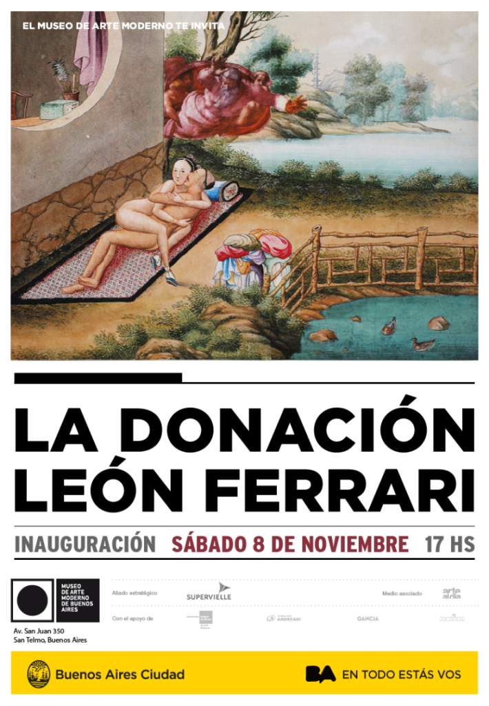 Donación León Ferrari. En el Museo de Arte Moderno de Buenos Aires, Av. San Juan 350