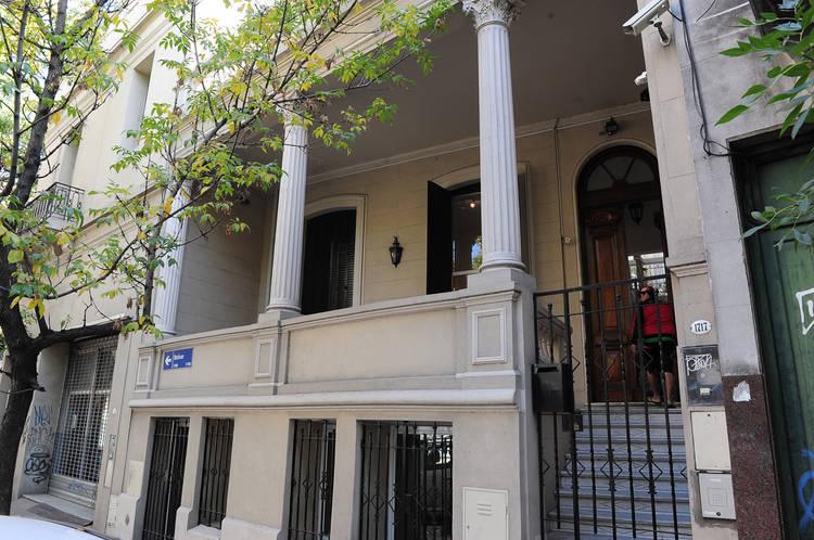 ESPACIO BOLIVAR. Se restauró el frente de la fachada de estilo neoclásico
